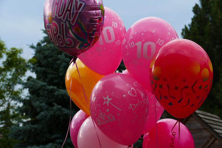 balloons with prints