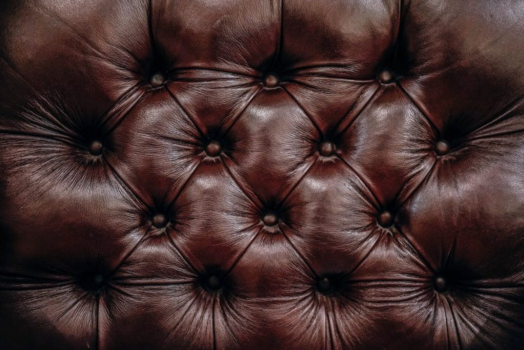 leather sofa made of real animal hide