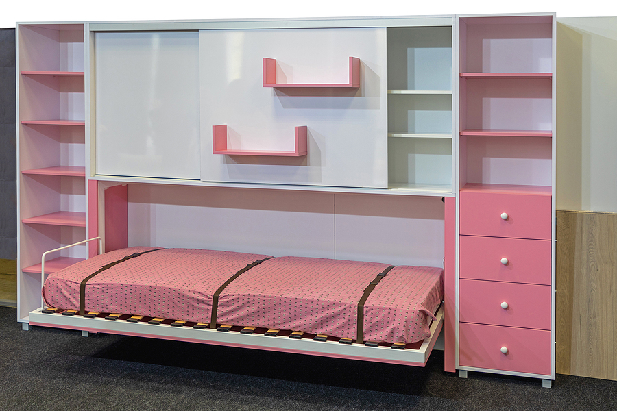 Pink murphy beds in Sydney